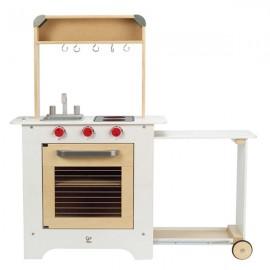 Cocina de madera con mesa extraíble, Hape