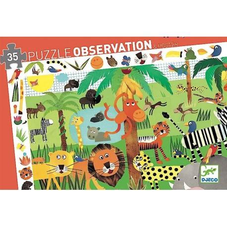 Puzzle Observación Jungla 36 pzs., Djeco
