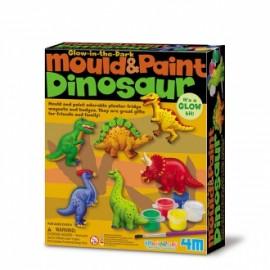 Moldea y Pinta Dinosaurios, 4M