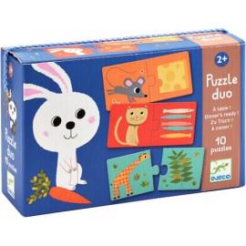 Puzzle Dúo A Comer!, Djeco