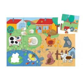 Puzzle táctil granja