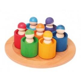 7 Amigos del arcoíris en cuencos