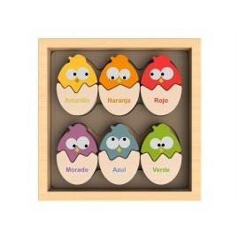 Huevos de colores (Inglés y español)