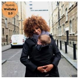 Abrigo de porteo y embarazo Wallaby 2.0 Negro y gris, Wombat & Co.