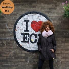Abrigo de porteo y embarazo Wallaby 2.0 Marrón y rosa, Wombat & Co.