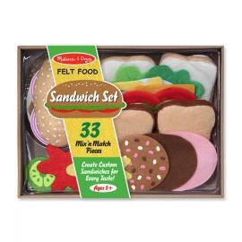 Alimentos de fieltro Sandwich, Melissa & Doug