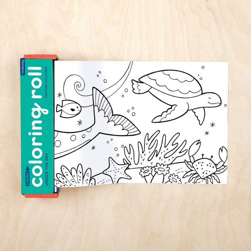Mini rollo para colorear Bajo el mar, Mudpuppy