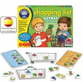 Shopping list Extras fruit & veg, juego lista de la compra frutas y verduras en inglés. Orchard Toys