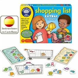 Shopping list Extras clothes, juego lista de la compra prendas de vestir en inglés. Orchard Toys