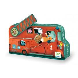 Puzzle Silueta El camión de bomberos, Djeco