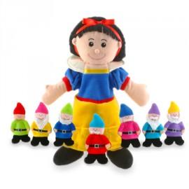Set de marionetas Blancanieves y los 7 enanitos, Fiesta