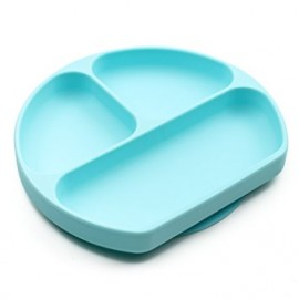 Plato de silicona con agarre, azul. Silicone Grip Dish, Bumkins