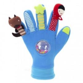 Guante con marionetas de dedo azul, EurekaKids