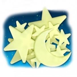 Luna y estrellas cósmicas brillantes, EurekaKids