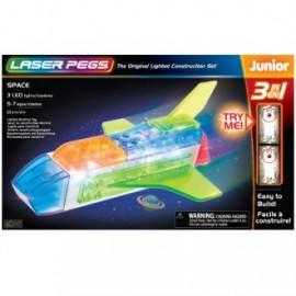 Nave espacial 3 en 1 junior 21 piezas, Laser Pegs