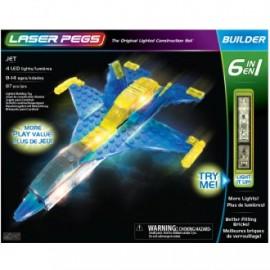 Super jet 6 en 1 87 piezas, Laser Pegs