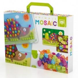 Juego de pinchos animals mosaic pegs 300 piezas, Eurekakids