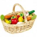 Set 24 frutas y verduras de madera, Janod