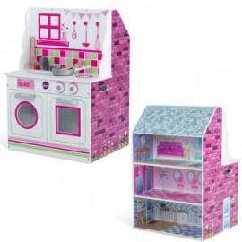 Cocina y casa de muñecas 2 en 1, Plum
