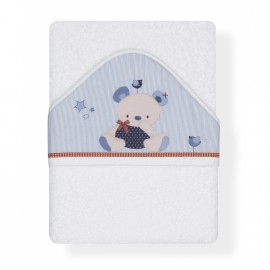 Capa de Baño Friends Baby blanco-azul, Interbaby