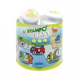 Sellos Baby Stamp Vehículos de trabajo, Aladine