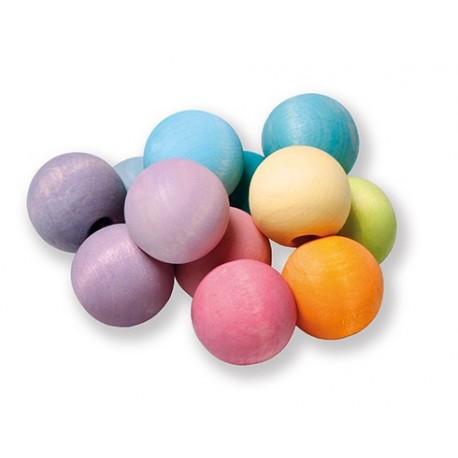 Sonajero de bolas de colores  pastel