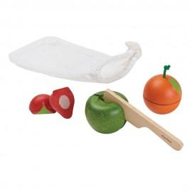 Set 3 frutas para cortar, PlanToys