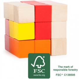 Rompecabezas Cubo de construcción rojo-amarillo